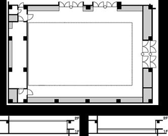 平土間形式(A/Bパターン)