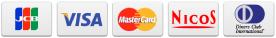 JCB ・ VISA ・ Master Card ・ NICOS ・ Diners Club